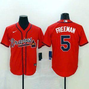 NWT #5 Atlanta Braves Freddie Freeman Red Jersey